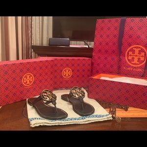 Tory Burch Miller Metal Sandal Leather 6.5